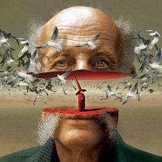 ♥ Igor Morski | Polish Surrealist painter