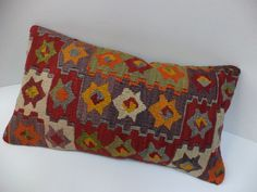 Turkish Kilim Pillow Vintage Pillow Throw by pillowshome on Etsy