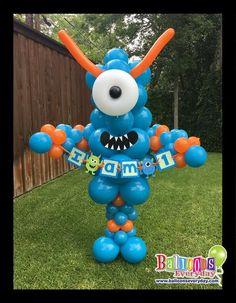 Monster First Birthday, Baby Boy 1st Birthday Party, Monster 1st Birthdays, 2nd Birthday Party Themes, Monster Birthday Parties, First Birthday Parties, First Birthdays, Birthday Ideas, Balloon Decorations Party