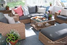 Disclosure: This post is sponsored by Wayfair.com.   Our screened porch has long been one of my favorite spaces in our home, and now it is just our style.  It is where the slower nights happen, where conversations flow and we just relax.  It is where we come in from the pool and wrap up in blankets as the nights