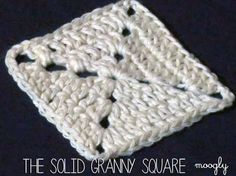 The Solid Granny Square - a basic square every crocheter should know! The Solid Granny Square – a basic square every crocheter should know! Video tutorial in HD on moo Granny Square Crochet Pattern, Crochet Blocks, Crochet Squares, Crochet Granny, Crochet Motif, Crochet Yarn, Free Crochet, Crochet Patterns, Granny Squares