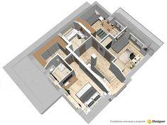 Projekt domu Oszust 2 136,4 m2 - koszt budowy 224 tys. zł - EXTRADOM Morden House, House Construction Plan, Dream House Exterior, Modern House Design, Decoration, Bungalow, Architecture Design, House Plans, Sweet Home