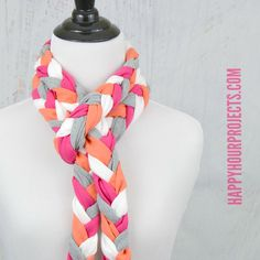 I love a good recycled craft project, and I've got a fun way to recycle t-shirts to make a great accessory today! This no-sew scarf is soft, colorful, easy, and fun. Make it up in your favorite colors, to match a new fall jacket, or in your team's colors! I'm sharing this project to kick …