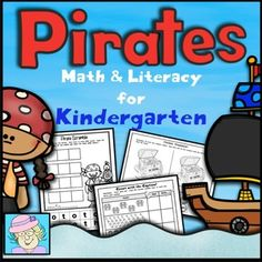 Kindergarten Math and Literacy Printables: Pirate Theme. This resource has 30 pages of Common Core based math and literacy activities for kindergarten. It contains some beginning activities (such as upper and lower case letter matching, beginning sounds, and counting numbers 1-10), as well as activities that can be used throughout the year (such as addition, subtraction, CVC words, and sight words). $