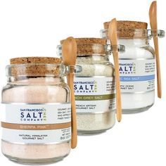 8oz Chef's Jar 3 Pack: Himalayan Salt, French Grey Salt, Pacific Ocean Salt - http://mygourmetgifts.com/8oz-chefs-jar-3-pack-himalayan-salt-french-grey-salt-pacific-ocean-salt/