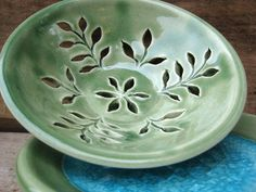 small celadon pottery berry bowl North Carolina by TagawaPottery, $22.00