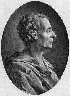 Charles Louis de Secondat (18 de enero de 1689 - 10 de febrero de 1755) Señor de la Brède y Barón de Montesquieu, jurista francés.