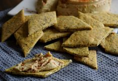 Biscoito salgado (cracker) vegano sem fermento e sem glúten