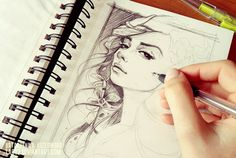 Watch_your_back illustration sketch. by Katarzyna Kozlowska, via Behance