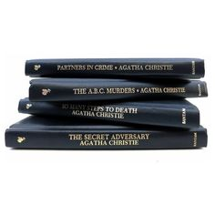 Agatha Christy Mystery Novels Vintage Books/Book Decor/ Decorative... ($29) ❤ liked on Polyvore featuring home, home decor, vintage home accessories and vintage home decor