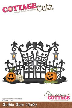 CottageCutz Gothic Gate (4x6) SOLD OUT - Pre-Order For Next Shipment