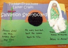 Toddler preschool easter bible craft salvation storyboard simple and