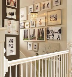 How To Create a Staircase Gallery of Wedding Photos - Have and Hold