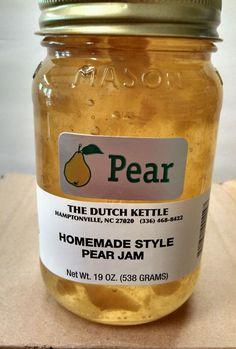 PEAR JAM Dutch Kettle Homemade Style Pear Jam BEST IN THE SOUTH 19oz Pint #DutchKettle