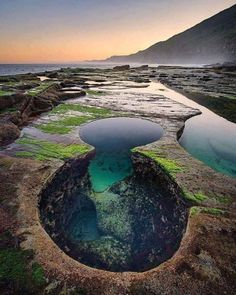 Unique pool formation in Royal National Park, New South Wales, Australia.
