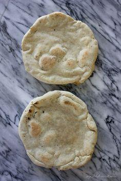 Yummy easy flat bread-I used myown flour blend sprinkled w sea salt before baking, mmmmm