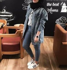 Hijab Teen, Girl Hijab, Casual Hijab Outfit, Hijab Chic, Islamic Fashion, Muslim Fashion, Outfits Otoño, Fashion Outfits, Modest Fashion