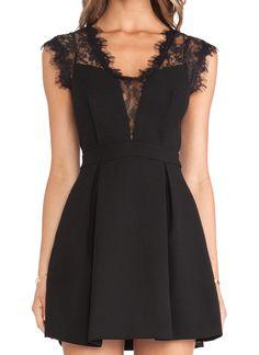 Black Sleeveless Sheer Lace Insert Pleated Dress