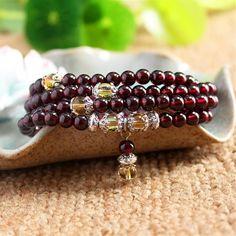 Citrine Garnet Mala Bracelet/Necklace