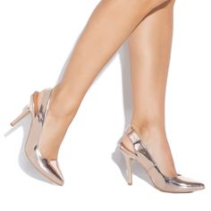 aliah rose gold slingbacks