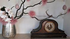 Easter Flowers, Clock, Indoor, Home Decor, Watch, Interior, Decoration Home, Room Decor, Clocks