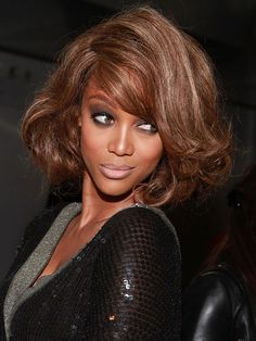 The Best Celeb Hairstyles For Every Length: Chin-length: Tyra Banks
