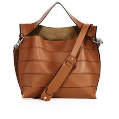 LOEWE Paneled Leather Shoulder Bag (10.640 BRL) ❤ liked on Polyvore featuring bags, handbags, shoulder bags, apparel & accessories, tan, leather shoulder bag, brown handbags, genuine leather purse, leather shoulder handbags and brown leather purse