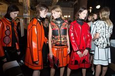 Proenza Schouler 2013 FABULOUS red leather line-up.
