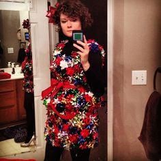 ugly christmas sweater dress | my christmas bow dress for ugly sweater party | christmas ideas!