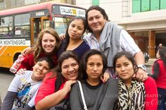 Project Peru - Megan with Josue and Karina and more Project Peru kids for our day in Lima