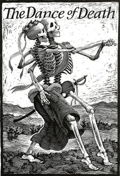 The Dance of Death Skeleton Print for Goth by TheDeadDance on Etsy Memento Mori, Dance Of Death, La Danse Macabre, Arte Obscura, Skeleton Art, Illustration, Party Poster, Till Death, Vanitas