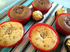Rezept für Giotto-Krokant-Muffins und Rocher-Nutella-Muffins http://wp.me/pGCcY-n3