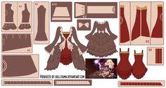 Kagamine Rin Dress w/ Dress Coat Pattern Draft by Hollitaima on DeviantArt