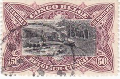 Belgium Congo postage stamp . . . train carrying wealth of Congo out of the jungle . . .