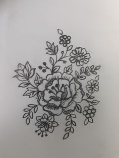 Embroidery On Kurtis, Kurti Embroidery Design, Hand Embroidery Designs, Embroidery Patterns, Design Art, Floral Design, Wreath Drawing, Mehndi Art, Mandala Design