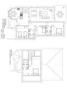 Plano constructivo de vivienda de 170 m2