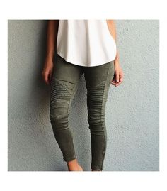 Strut your stuff in these Beulah Motorcycle legging available at Fitness Fashions and Lisa M.Clothing