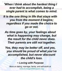 The Single Parent Challenge -  I have just recently realized I am now a single parent.Every day I am painfully aware of the loss and pain I have caused my children and how their lives less now. They are not better off and my best will never be enough and the shame will always be a cloak I wear.