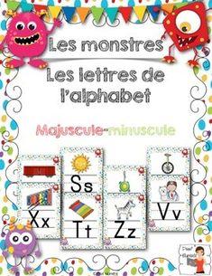 On the subject of monsters, get this file, alphabet poster script, to decorate your classroom.   Sur la thématique des monstres, procurez-vous ce fichier, alphabet poster script,  afin de décorer pour votre classe.