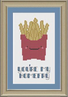 You're my homefry: funny French fry by nerdylittlestitcher on Etsy