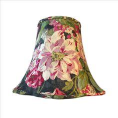 Floral Lamp Shade, Shabby Chic Lamp Shade, Rose Lamp Shade, Cabbage Rose Lamp Shade, FREE SHIPPING - Continental USA