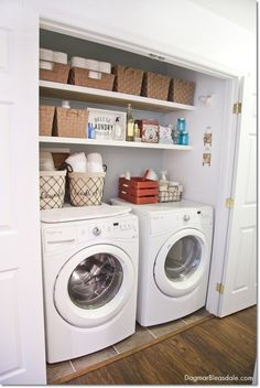 Small laundry room idea: laundry closet. Dagmar's Home, http://DagmarBleasdale.com