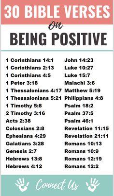 30 Encouraging Bible Scriptures on Being Positive