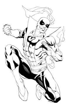 Original Comic Art titled Iron Fist - Robert Atkins, located in Bill's Commissions Comic Art Gallery Marvel Comics, Dc Comics Heroes, Marvel Comic Books, Marvel Heroes, Marvel Characters, Comic Books Art, Drawing Superheroes, Marvel Drawings, Cartoon Drawings