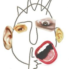 magazine clippings face