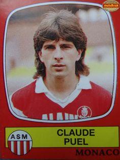 Claude PUEL ... PANINI 87 As Monaco, Football, Album, Vignettes, Images, Passion, Vintage, Trading Cards, Childhood