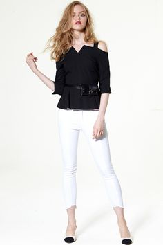 Savannah Unbalaced Hem Jeans Discover the latest fashion trends online at storets.com #Lounge  #Check Suit Pants