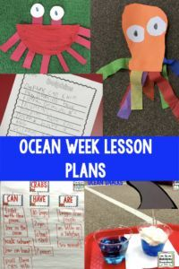 Ocean week!   Lesson plans, art projects, snacks and more for your ocean week or ocean unit!