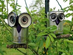 Tin Can Crafts, Owl Crafts, Crafts To Make, Nifty Crafts, Metal Crafts, Recycle Cans, Ways To Recycle, Recycling, Repurpose