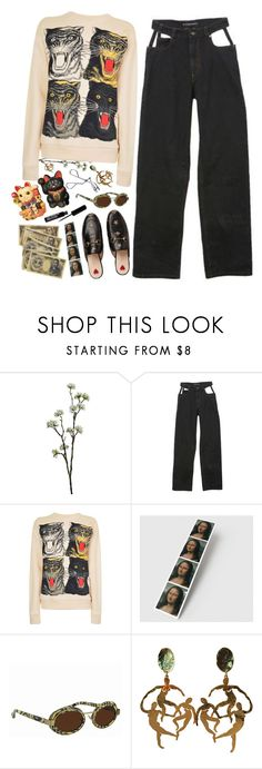 """""""Asia"""" by ritaflagy ❤ liked on Polyvore featuring Wyld Home, Y/Project, Gucci and Linda Farrow"""